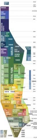 Manhattan Zip Code Map by Manhattan Neighborhood Map I Nyc S Complete Neighborhoods