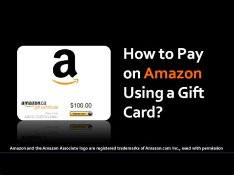 How To Use A Gift Card On Amazon - how to pay on amazon using a gift card youtube