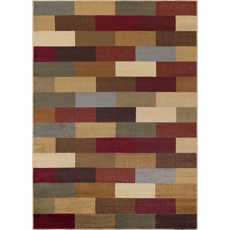 10 Ft Contemporary Rugs - tayse rugs elegance multi 8 ft x 10 ft contemporary area