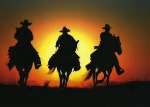 image detail for three cowboy silhouette by larry cowles