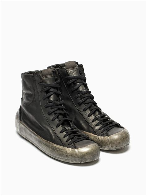 oxs sneakers oxs rubber soul leather sneakers in black for lyst