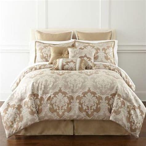 bedding jcpenney jcpenney lorraine damask 7 piece full comforter set gold