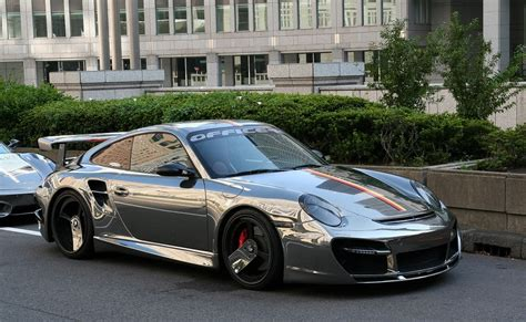 porsche chrome forgiato shows a chrome porsche turbo 997 doing