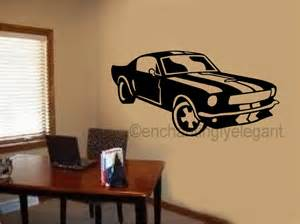 wall stickers boy bedroom mustang shelby car vinyl decal wall sticker office shop
