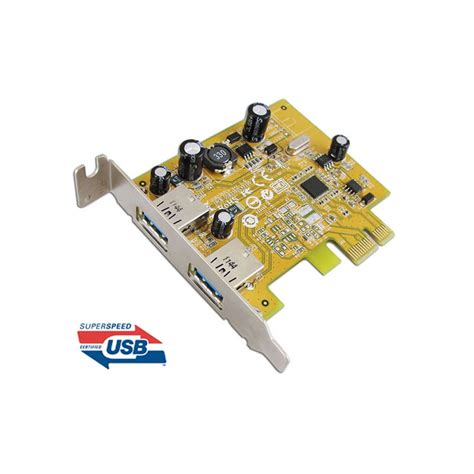 Pci Express To 2 Usb 30 Port Pci Card No Color usb 3 0 dual ports pci express low profile host controller