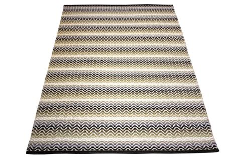 Cotton Rugs by Tiskoni Black Modern Cotton Rug Ghadamian