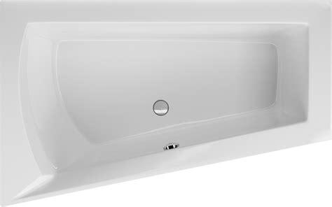 asymmetrische badewanne raumsparbadewanne 170 x 100 cm trapez badewanne ablauf mittig