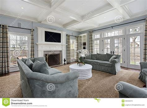 Garage Designs And Prices family room with fireplace stock image image of family