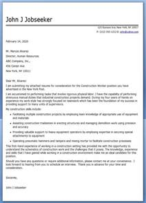 Worker Cover Letter by Construction Worker Cover Letter Sle Resume Downloads