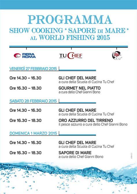 scuola di cucina tu chef gli show cooking sapore di mare protagonisti al world