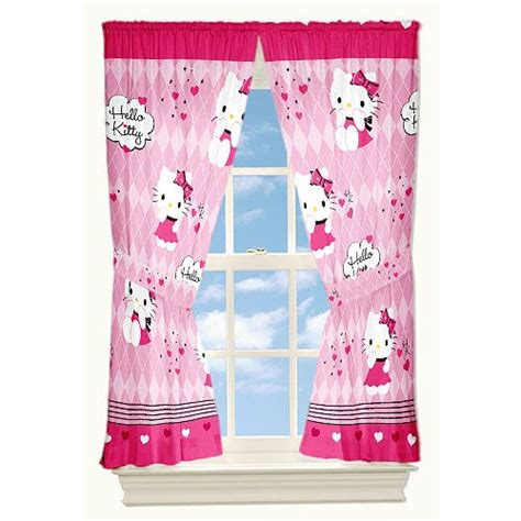 hello kitty drapes cutest hello kitty bedroom for girls