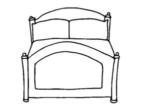 bed coloring page free to bed coloring pages