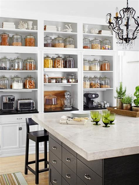 Open Kitchen Storage | pantry storage ideas heather bullard