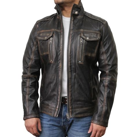 mens leather biker jacket mens black biker leather jacket allan