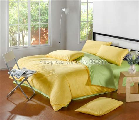 green and yellow comforter wholesale solid pattern satin yellow apple green bi color