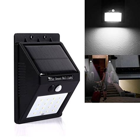 solar led sensor light solar powered sensor led wall light includes delivery