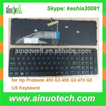 genuine us laptop keyboard for hp probook 450 g3 455 g3