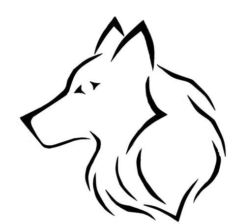simple tattoo clip art simple wolf head clipart best
