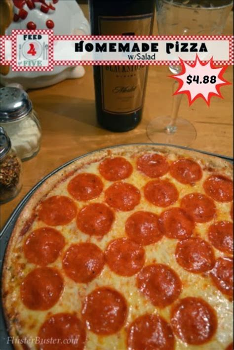 cheap and easy recipes homemade pizza dinner feed 4 for 4 88 fluster buster