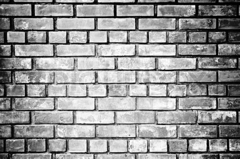 black and white wall black and white brick wall background stock photo