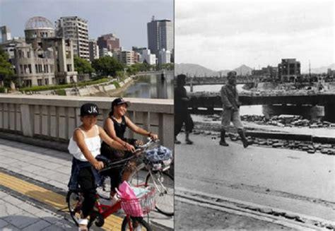 imagenes de japon en la actualidad bombas at 243 micas el antes y el despu 233 s de hiroshima y