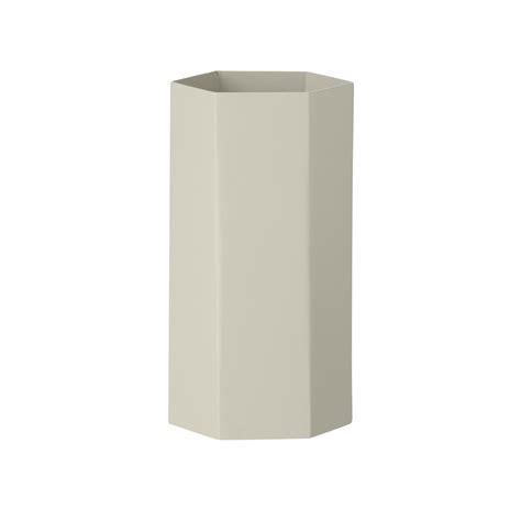 ferm living vase ferm living hexagon vase grau grau h 19 kaufen
