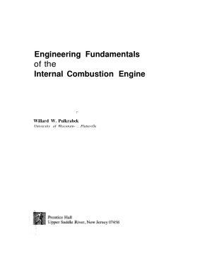 fundamentals  internal combustion engine tech books yard