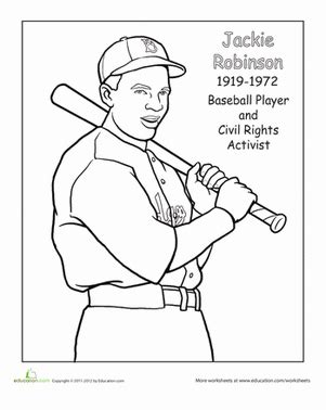 jackie robinson baseball card template color jackie robinson worksheet education