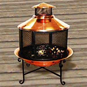 Chiminea Grill Rack Copper Chiminea Firepit With Grill Set U91007