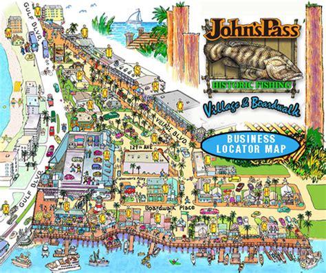 map of johns pass florida johns pass map and merchants 171 johnspass