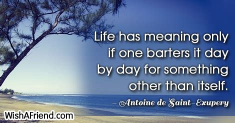 Denies Anything Other Than Friendship by Antoine De Exupery Quote Has Meaning Only If