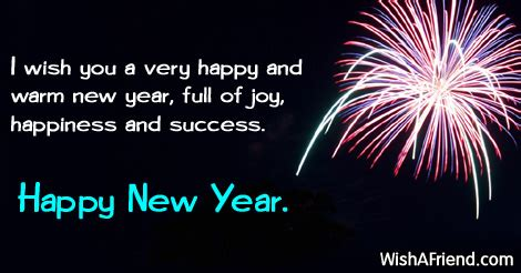 new year wishes words i wish you a happy new year saying