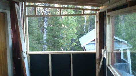 veranda wall replacing the side wall in the veranda laplander s