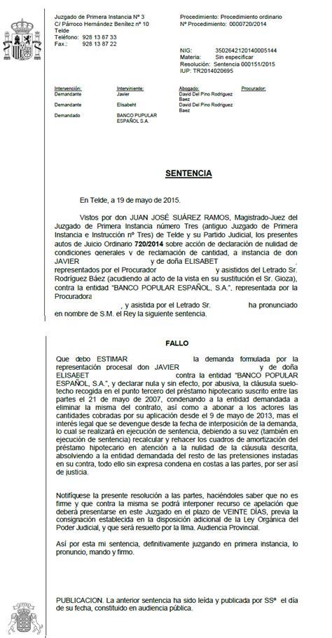 sentencia clausula suelo banco popular otra sentencia ganada por nuestros abogados eliminando la