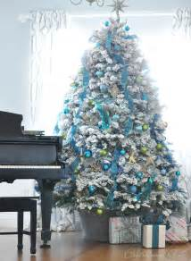 white blue christmas tree centsational girl
