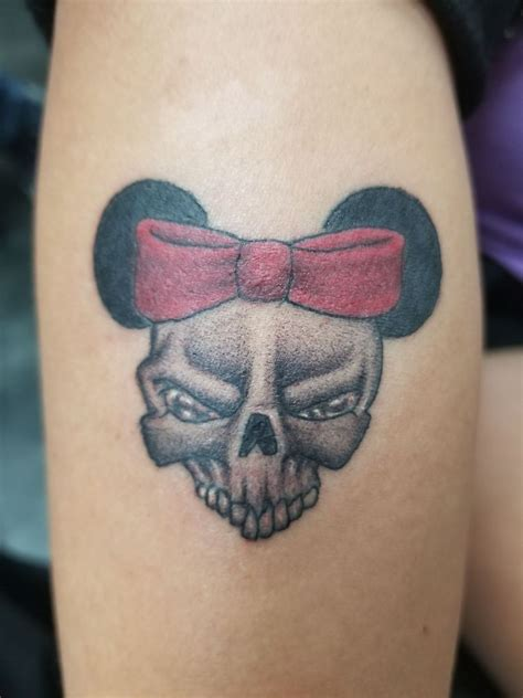kreations tattoo minnie mouse skull yelp