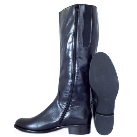 navy boots gabor dawson navy leather knee high boots mozimo