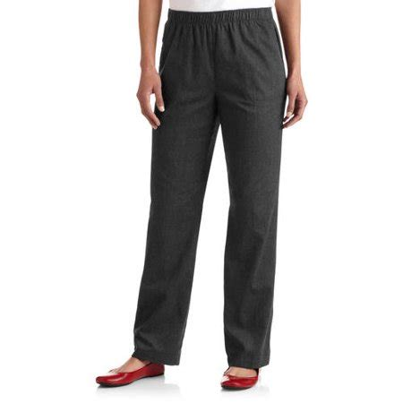 white stag women's comfort waist woven pull on pants