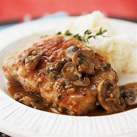 pork chops marsala healthy pork chop recipes cooking light