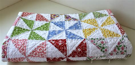 Quilt Pattern Pinwheel by Gold Shoe Pretty Pinwheel Quilt