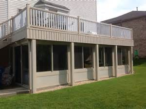 how to build a sunroom on a deck this is an all season sunroom we built our composite