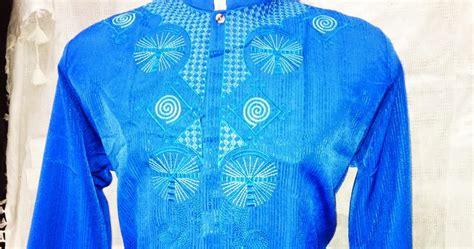 Baju Koko Warna Biru Lengan Panjang Model Busana Pria Muslim Samase baju koko lengan panjang warna biru terbaru murah jual baju koko modern murah