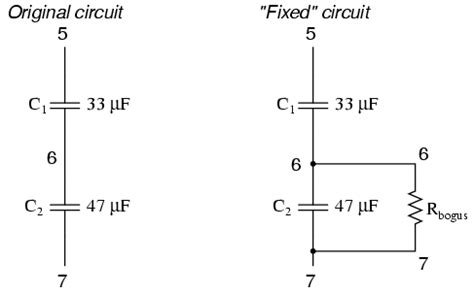 capacitor in series dc circuit capacitor circuits series images