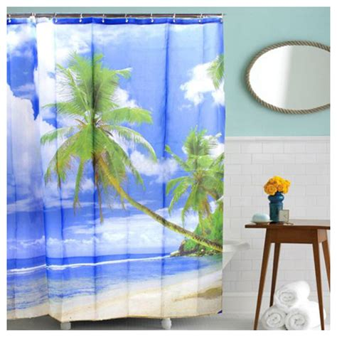 palm tree bathroom tropical palm tree summer beach polyester shower curtain
