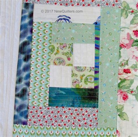 log cabin quilt as you go block 187 new quilters