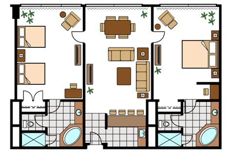 in suite floor plans suncoast hotel casino deluxe suites mediterranean