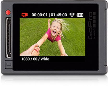 gopro hero4 goes 4k 30fps or touchscreen display options