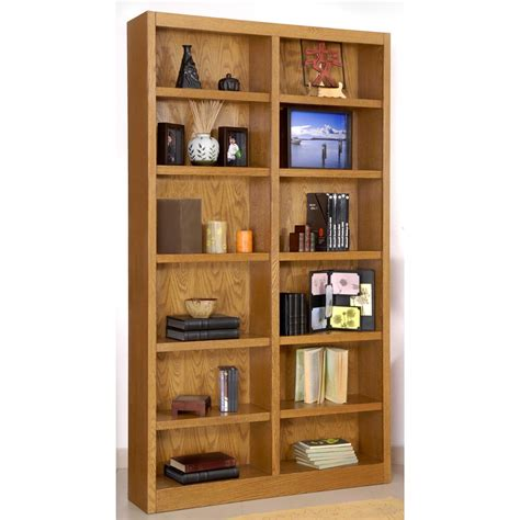 12 Wide Bookcase concepts in wood wide 12 shelf bookcase