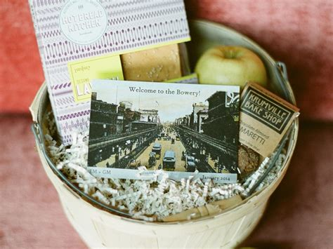 Wedding Brochure For Out Of Town Guests by Wedding Gift Baskets For Out Of Town Guests Everafterguide