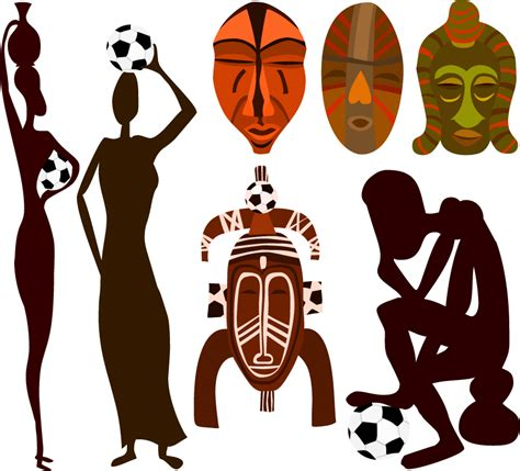 african vector pattern eps pattern vector of african football free vector 4vector